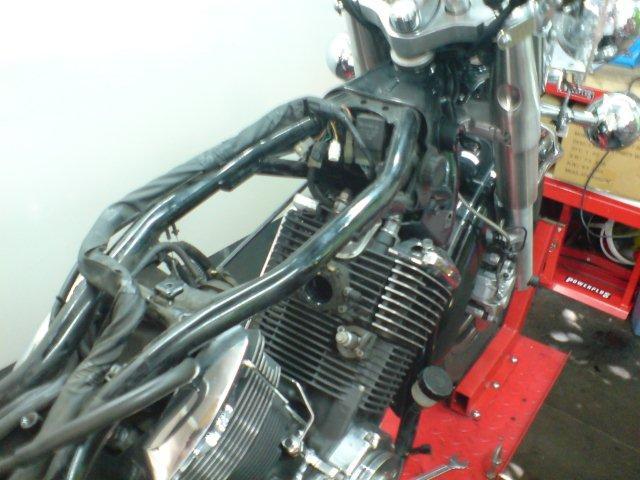 Yamaha XVS1100 Dragstar mit gebrochener Getriebeausgangswelle